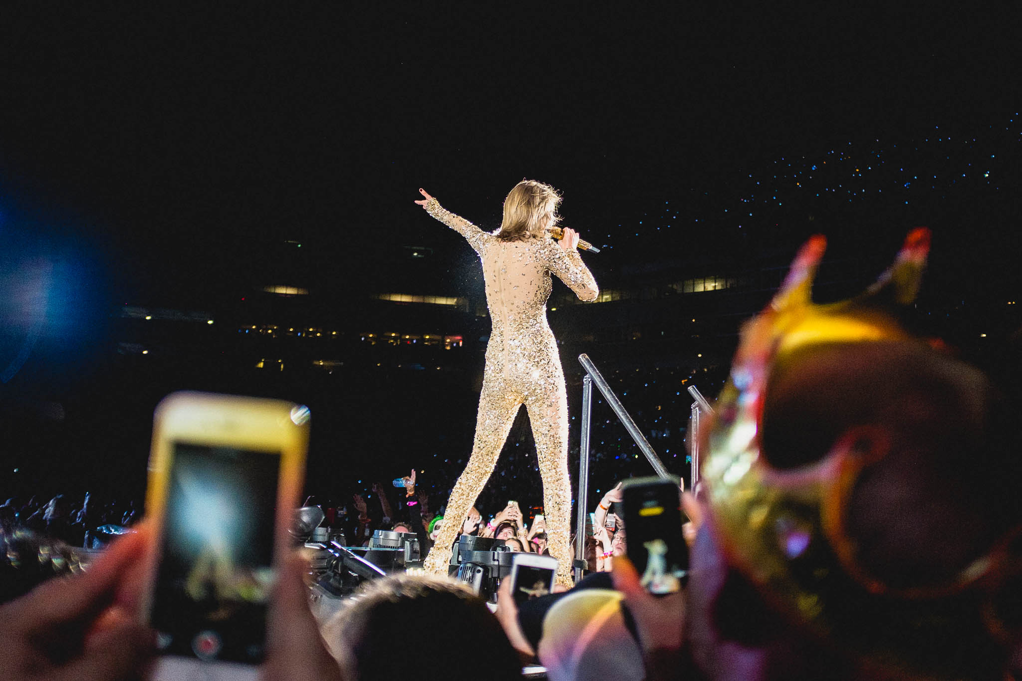 October, 31 2015. Taylor Swift performs in Tampa, FL for the last stop on the US leg of her 1989 Tour.